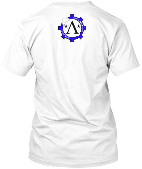Spartan Defender, Molon Labe White T-Shirt Back