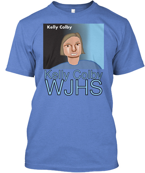 Kelly Colby Wjhs Heathered Royal  T-Shirt Front