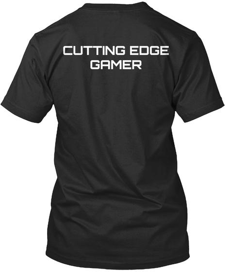 Cutting Edge Gamer Black T-Shirt Back