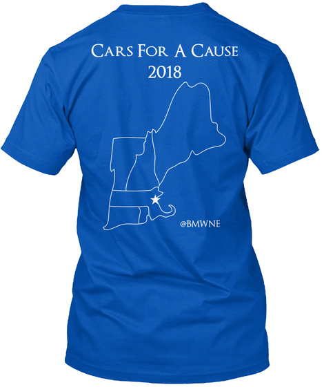 Cars For A Cause  2018 @Bmwne Royal T-Shirt Back