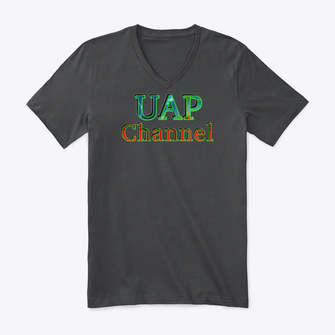 Uap Channel Official Logo Dark Grey Heather T-Shirt Front