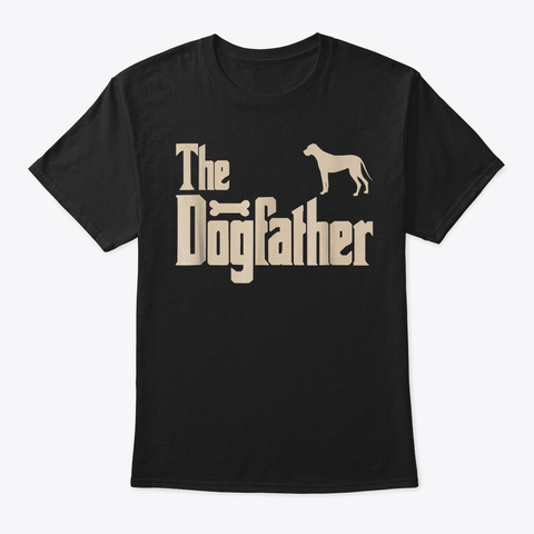 Mens Great Dane Dog Lovers Gifts The Dog Black T-Shirt Front