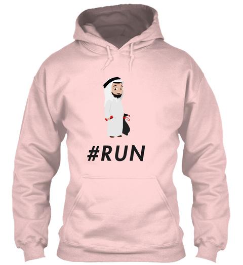 #Run Light Pink T-Shirt Front