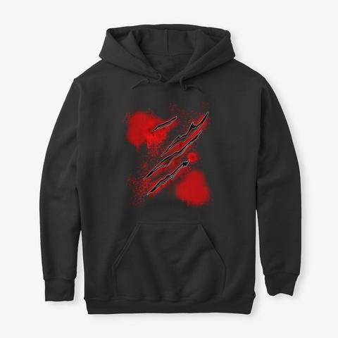 Knife Slasher Halloween Blood Black T-Shirt Front