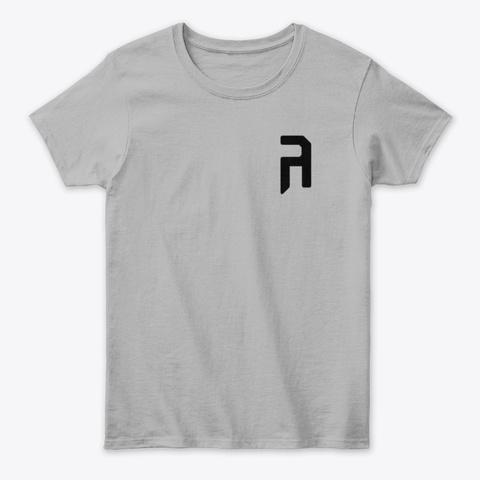 Women's Classic Tee   Black Logo Sport Grey T-Shirt Front
