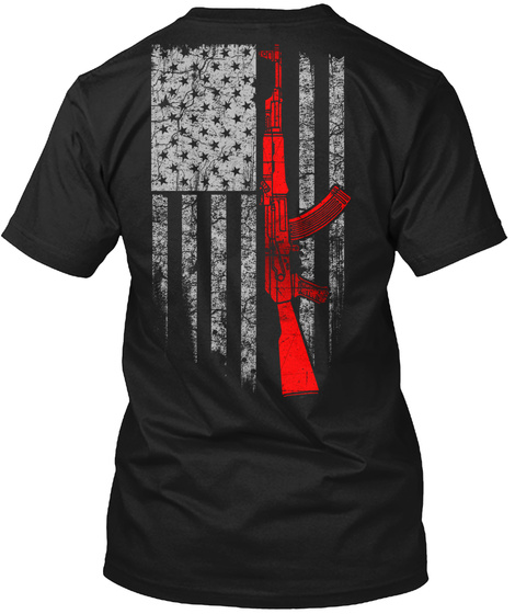 Ameri Ak47 Black T-Shirt Back