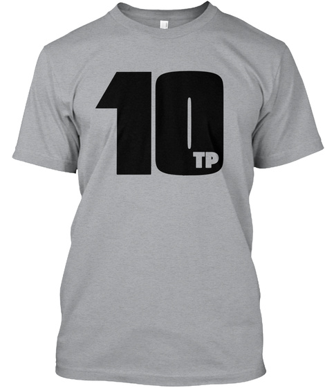 The Pop 10 New Logo Tee!  Heather Grey T-Shirt Front