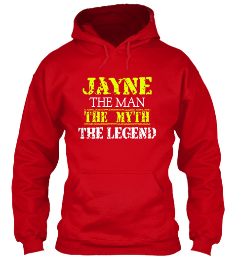 Ja Yne The Man The Myth The Legend Red T-Shirt Front