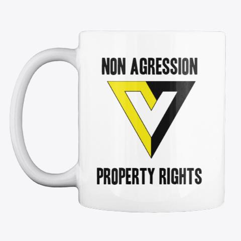 Non Agression & Property Rights Muh Mug White Mug Front