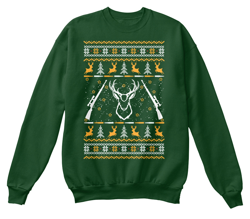 unisexe de Noël Sweat de sur standard commande fait moche shirt chasse Pull 6Cwx5vqq