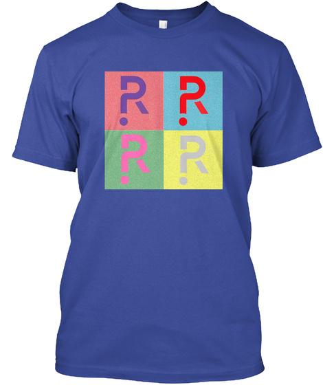 Pop Art Riddles Deep Royal T-Shirt Front