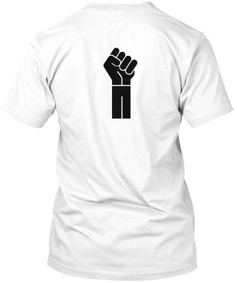 Rbg/Ranm White T-Shirt Back