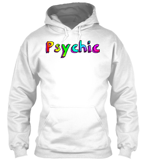 Psychic White T-Shirt Front