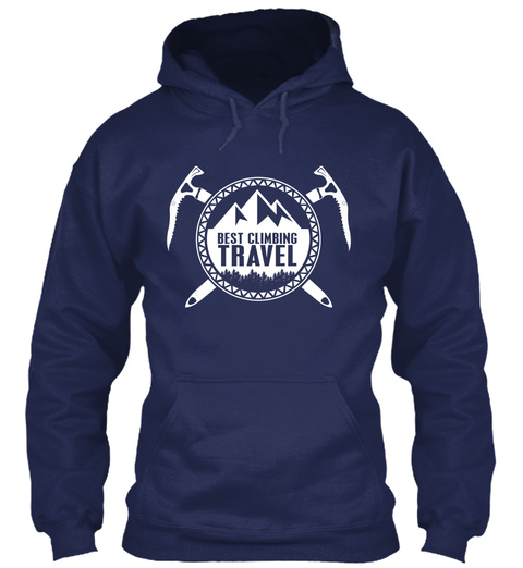 Best Climbing Travel Navy T-Shirt Front