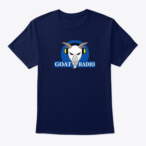 Goat Radio Gear Navy T-Shirt Front