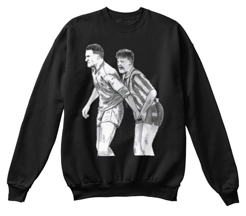 Classic English Defending Black Sweatshirt Front