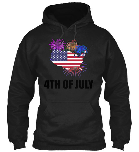 Independence Day 4th Of July Gift Idea Black T-Shirt Front