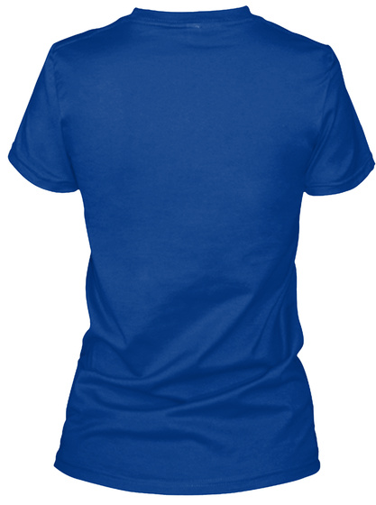 Hospice Aide True Royal T-Shirt Back