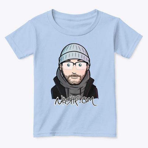 Cartoon Nash (Kids) Light Blue T-Shirt Front