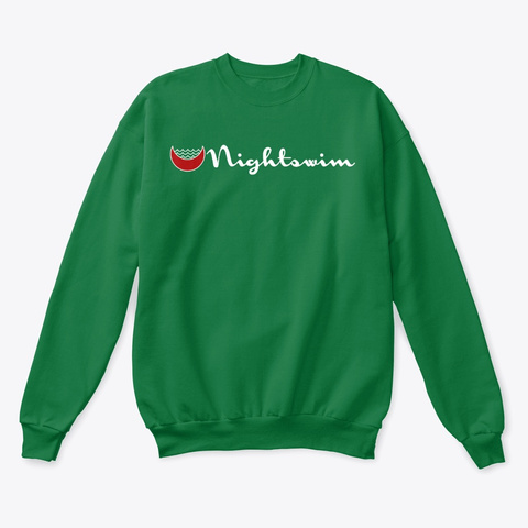 Night Swim Strong Kelly Green  T-Shirt Front