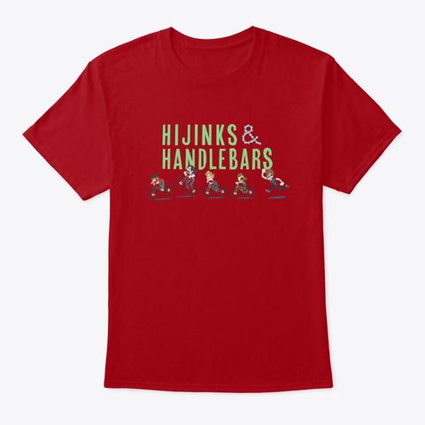Hijinks And Handlebars Logo  Deep Red T-Shirt Front