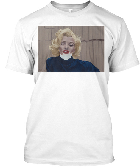 Russelloliverart   Erased Marilyn White T-Shirt Front