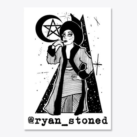 Ryan Stone Sketch White T-Shirt Front