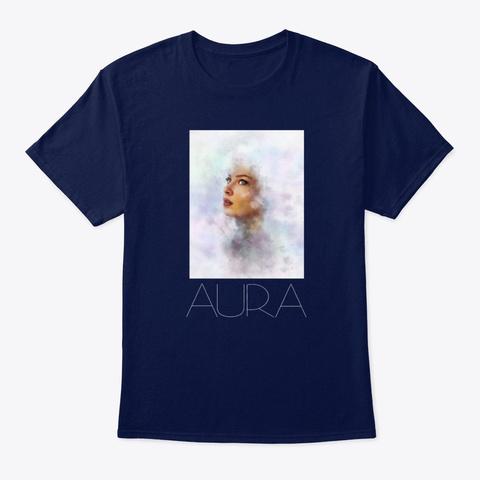 """""""Aura"""" Tee Navy T-Shirt Front"""