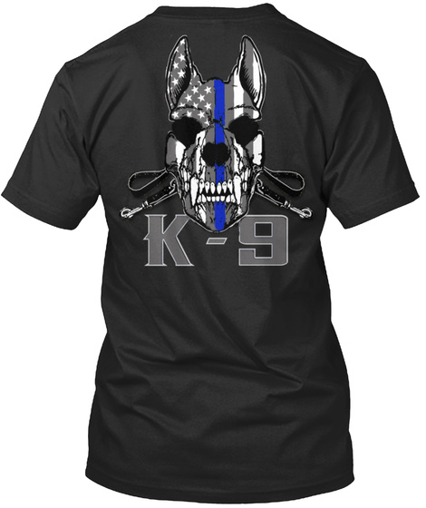 K 9 Black T-Shirt Back