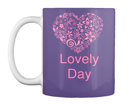 Lovely Day Purple T-Shirt Front