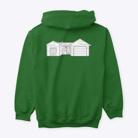 Classic Burbs Hoodie   All Colors Irish Green T-Shirt Back