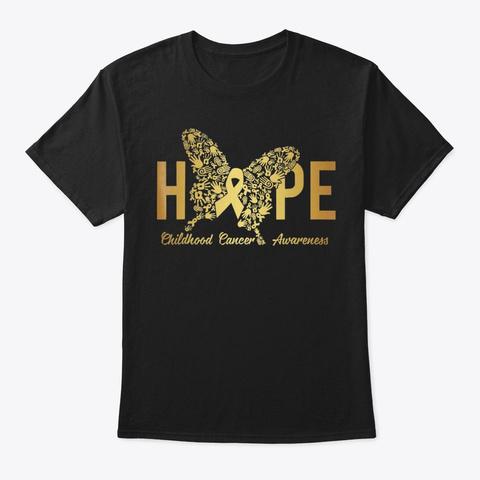 Hope Childhood Cancer Awareness Shirts G Black T-Shirt Front