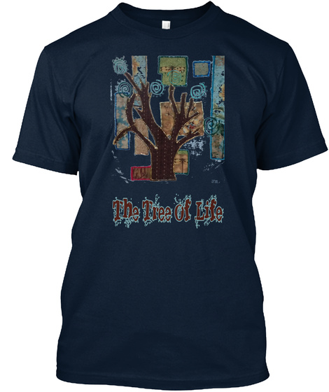 The Tree Of Life New Navy T-Shirt Front