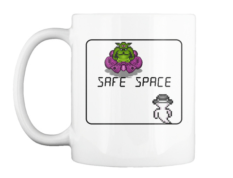 Official Neckbeards Mug By Soiree Games White T-Shirt Front