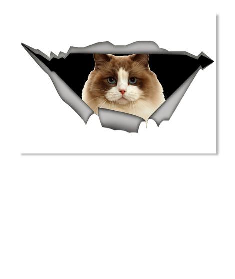 Ragdoll  Cat Car Sticker  White T-Shirt Front