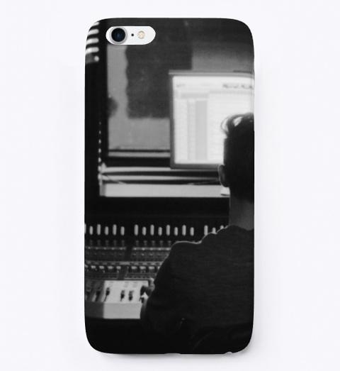 I Phone Case: Music Studio Black T-Shirt Front