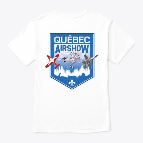 I Love Airshow  Blanc White T-Shirt Back
