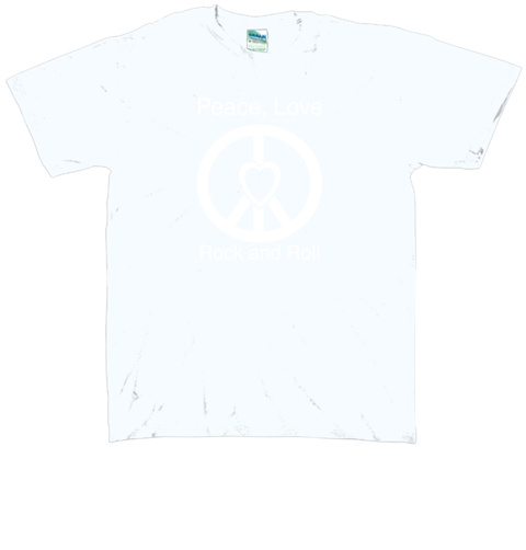 Peace, Love Rock And Roll  Royal T-Shirt Front
