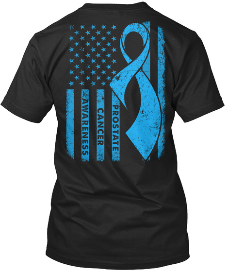 Prostate Cancer Awareness Black T-Shirt Back