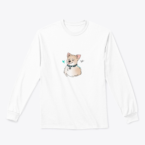 Traves Rar Dog Shirt White Long Sleeve T-Shirt Front