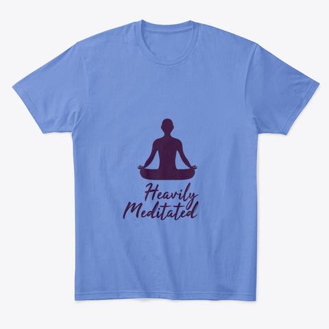 Heavily Meditated Heathered Royal  T-Shirt Front