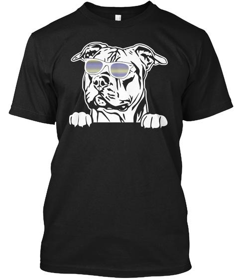 Staffordshire Bull Terrier Black T-Shirt Front