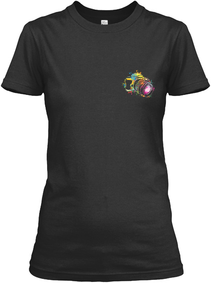 Awesome Photographer Shirt Black T-Shirt Front
