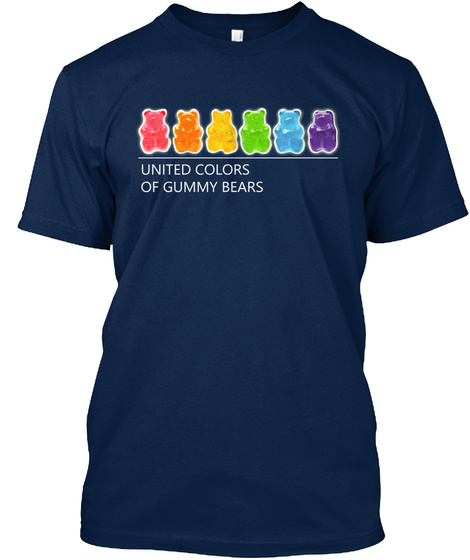 United Colours Of Gummy Bears Navy T-Shirt Front