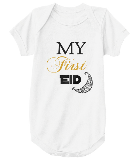 My First Eid White T-Shirt Front