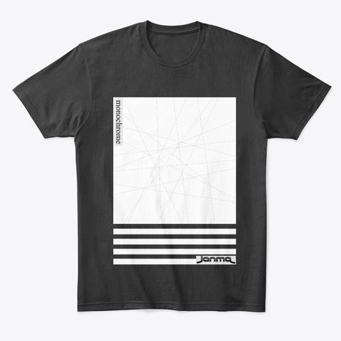 Monochrome Black T-Shirt Front
