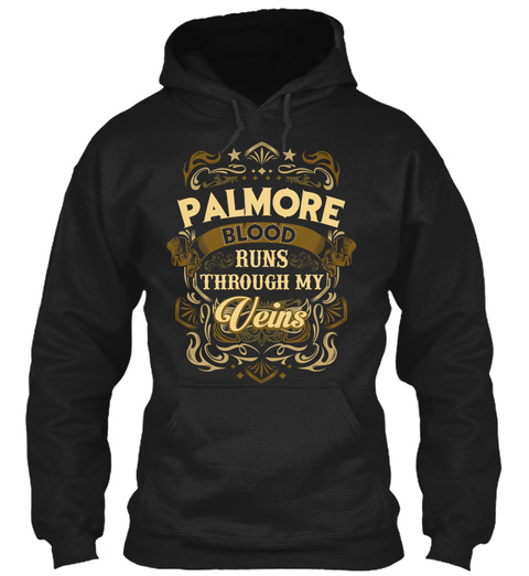Palmore Blood Run Through My Veins Black T-Shirt Front