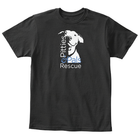 Pitties & Pals Rescue Black T-Shirt Front