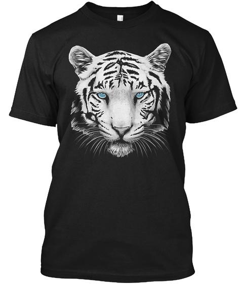 White Tiger Shirt Black T-Shirt Front