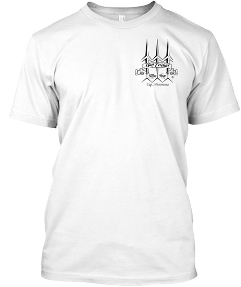 Yap Tribal Tattoo T Shirts White T-Shirt Front